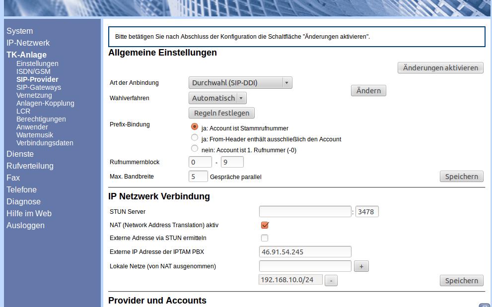 Einstellungen Deutschlandlan Sip Trunk Deutsche Telekom Ag